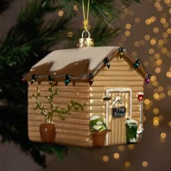 Christmas bauble garden shed large