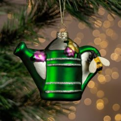 Green Watering Can shaped bauble